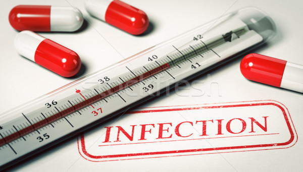 Medical Concept, Infection and high temperature Stock photo © olivier_le_moal