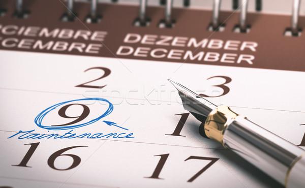 Préventive entretien calendrier nombre neuf Photo stock © olivier_le_moal