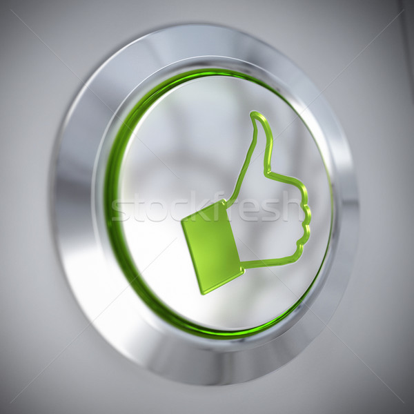 Thumbs Up Symbol, Green Like Button, Approved Stock photo © olivier_le_moal