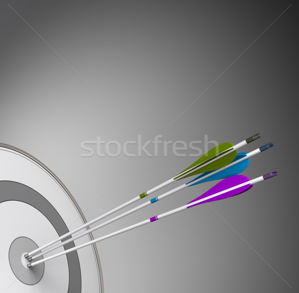 Competitive Business Background Concept - Achieving Excellence Stock photo © olivier_le_moal
