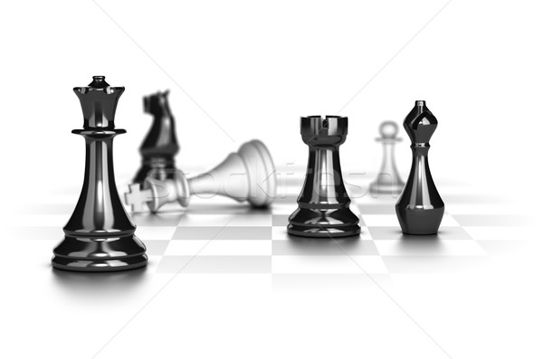 Checkmate, Business Strategy Concept Stock photo © olivier_le_moal