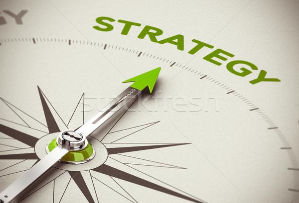 Verde estrategia de negocios 3d imagen campo Blur Foto stock © olivier_le_moal