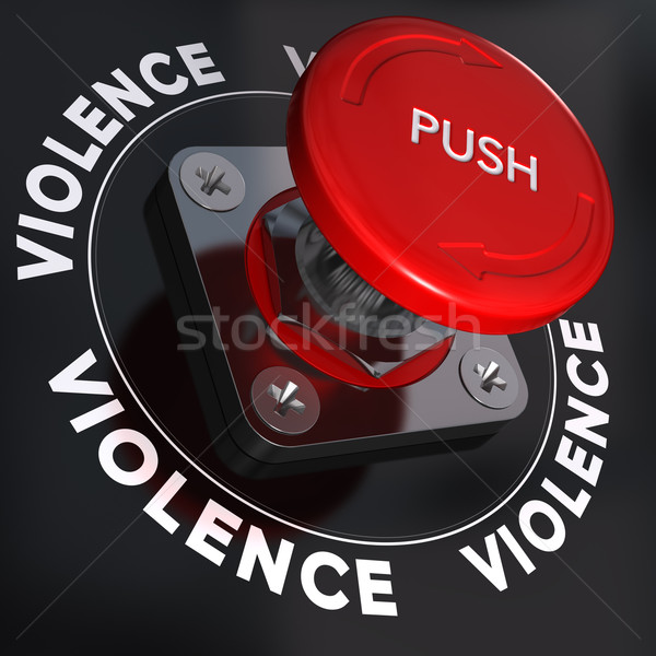 Stop violenza panico pulsante parola simbolo Foto d'archivio © olivier_le_moal