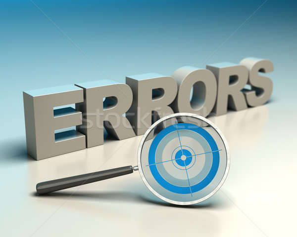 Errors detection Stock photo © olivier_le_moal