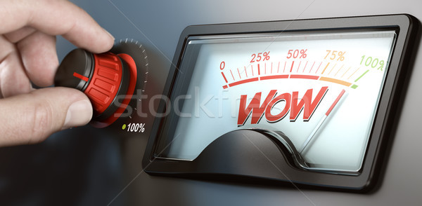 Wow factor effect effectief communicatie man Stockfoto © olivier_le_moal