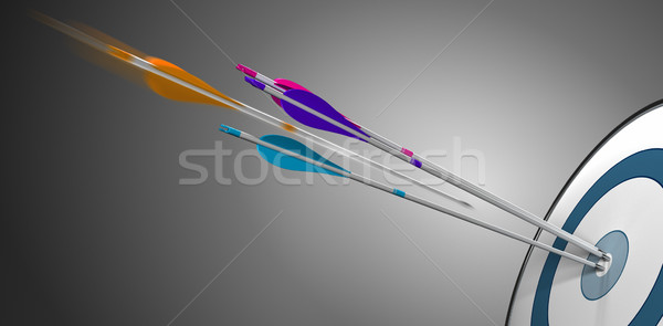 Target and Arrow. Business Performance Stock photo © olivier_le_moal