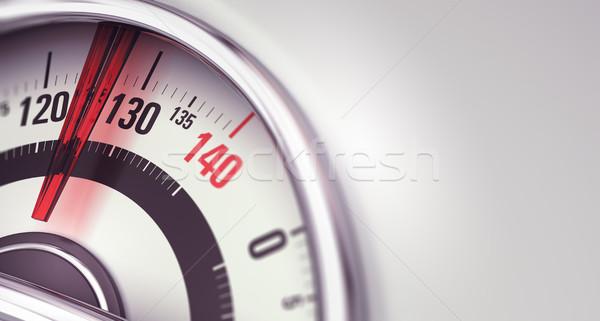 Nadwaga otyłość waga łazienkowa igły wskazując Zdjęcia stock © olivier_le_moal