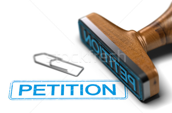 Petition Campaign, Democracy Concept Over White Stock photo © olivier_le_moal
