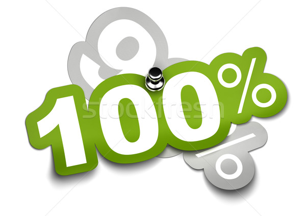 Stock photo: one hundred percent - 100%