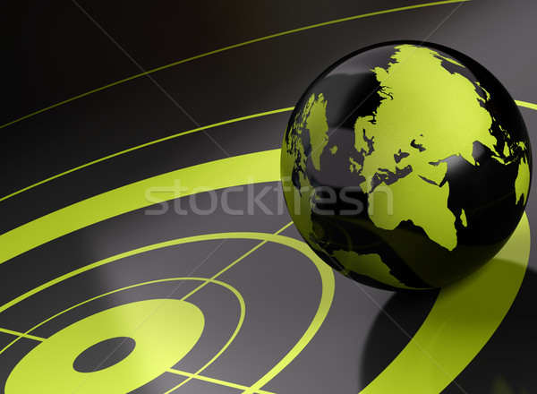 world and target  geolocation - background Stock photo © olivier_le_moal