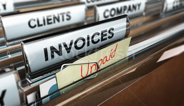 Finanziellen Datei Wort Rechnung Stock foto © olivier_le_moal