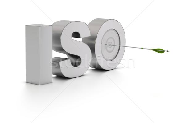Calidad estándar palabra iso como objetivo Foto stock © olivier_le_moal