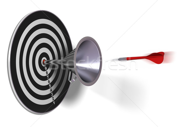 подготовки успех целевой воронка красный дартс Сток-фото © olivier_le_moal