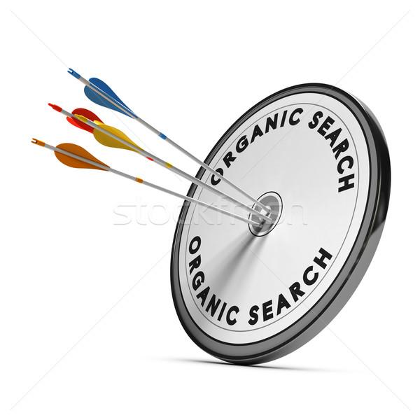 Seo organisch Zoek resultaten target vier Stockfoto © olivier_le_moal