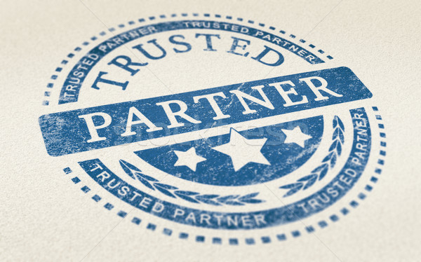 Trust in Business Partnership Background Stock photo © olivier_le_moal