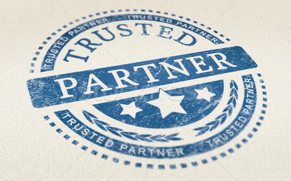 Stock fotó: Bizalom · üzlet · együttműködés · partner · osztályzat · papír · textúra