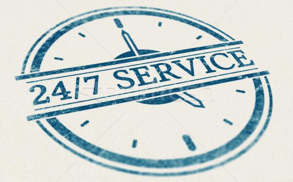 Dienst altijd Open 24 7 dagen week Stockfoto © olivier_le_moal