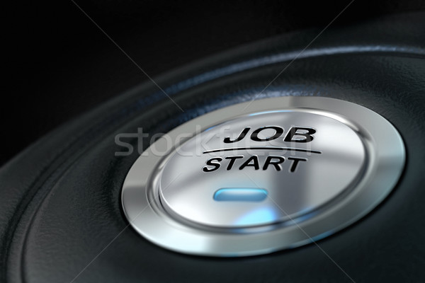 job start button Stock photo © olivier_le_moal