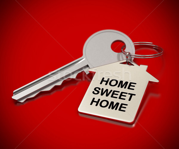 home sweet home red background Stock photo © olivier_le_moal