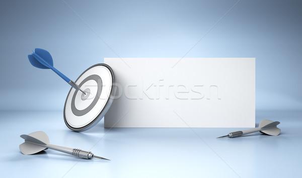 Сток-фото: реклама · один · дартс · центр · серый · целевой