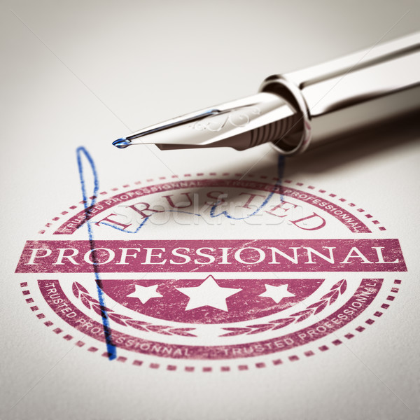 Trusted Professionnal Stock photo © olivier_le_moal