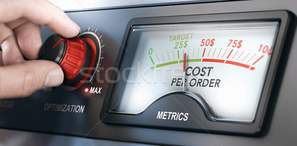 Cost Per Order Metrics. CPO Measurement and KPI Stock photo © olivier_le_moal