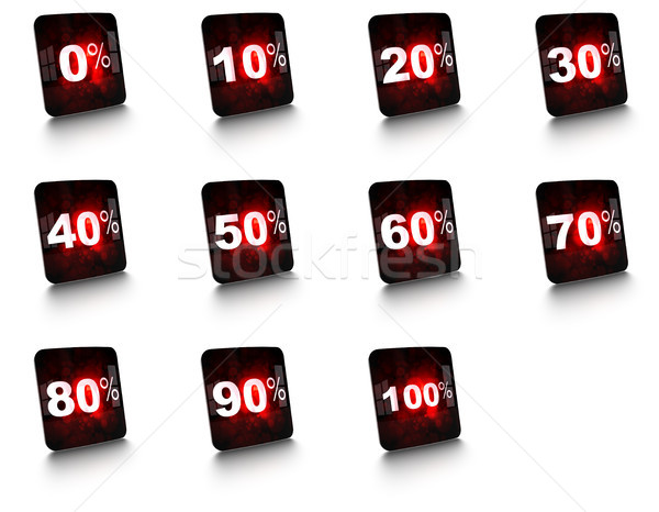 complete set of percent buttons Stock photo © olivier_le_moal