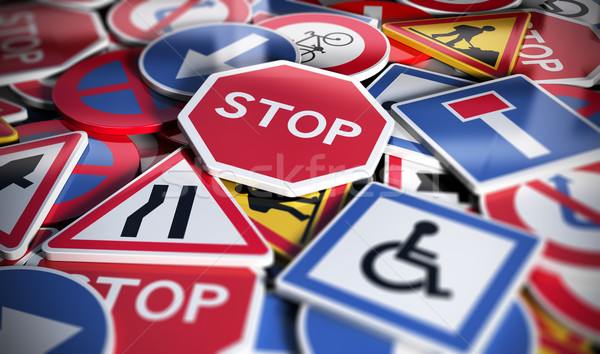 Road or Traffic Signs Stock photo © olivier_le_moal