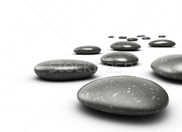 stones in a row Stock photo © olivier_le_moal
