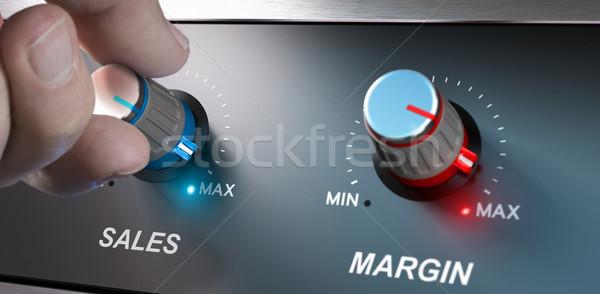 Business verkoop winstgevend verbetering hand Stockfoto © olivier_le_moal