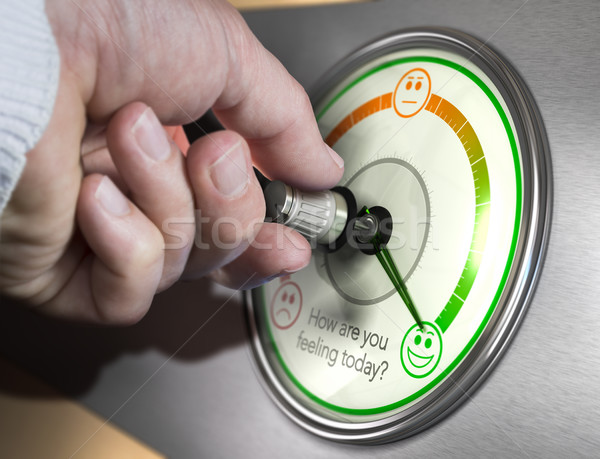 Stockfoto: Optimisme · optimistisch · stemming · hand