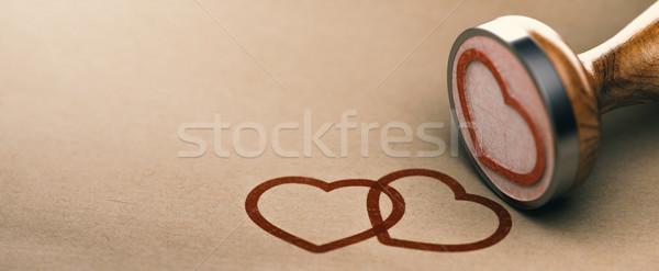 Stockfoto: Liefde · valentijnsdag · bruiloft · evenement · kaart