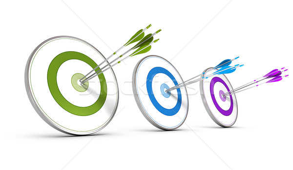 Business Concept - Achieving Multiple Strategic Objectives Stock photo © olivier_le_moal