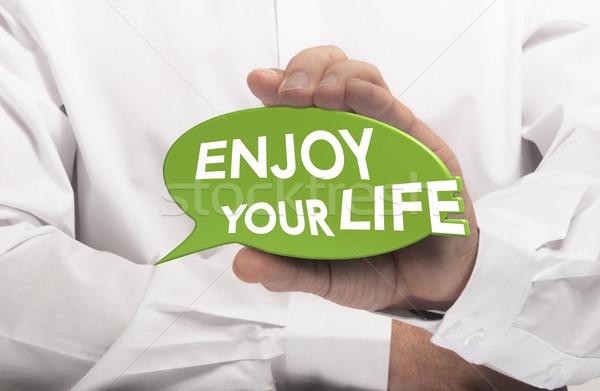 Veda mesaj adam yeşil Stok fotoğraf © olivier_le_moal
