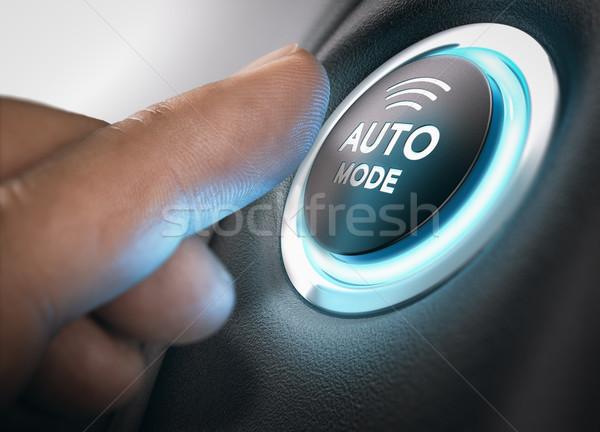 Automatico impegnato dito pulsante Foto d'archivio © olivier_le_moal