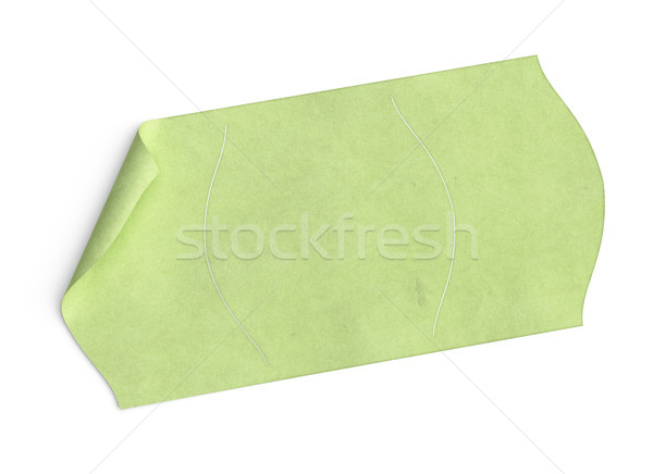 customizable price tag, green sticker over white Stock photo © olivier_le_moal
