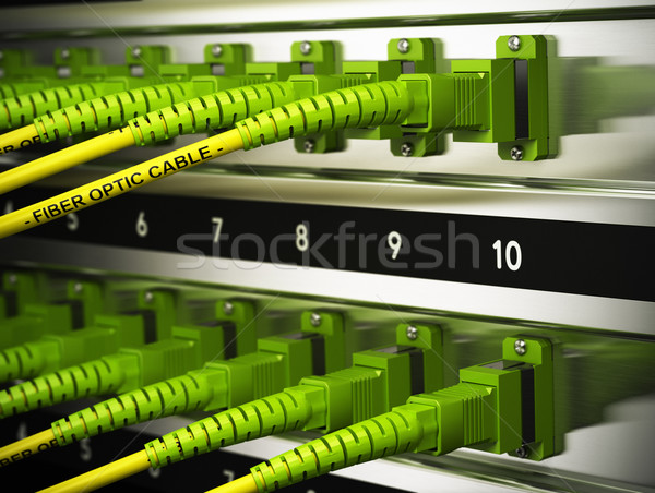 Network Infrastructure, Fiber Optics Connections Stock photo © olivier_le_moal