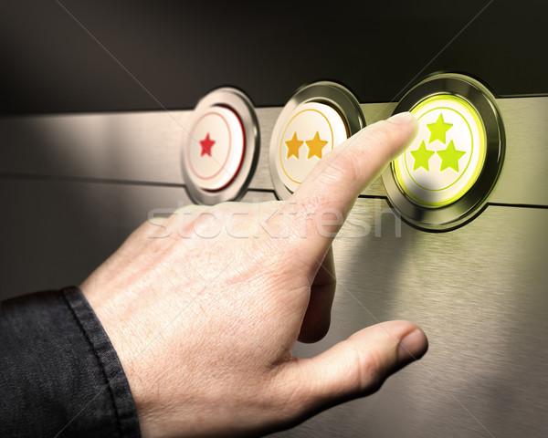 Servizio di assistenza soddisfazione sostegno tre pulsanti uno Foto d'archivio © olivier_le_moal