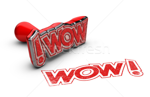WOW, Exclamation Concept Stock photo © olivier_le_moal