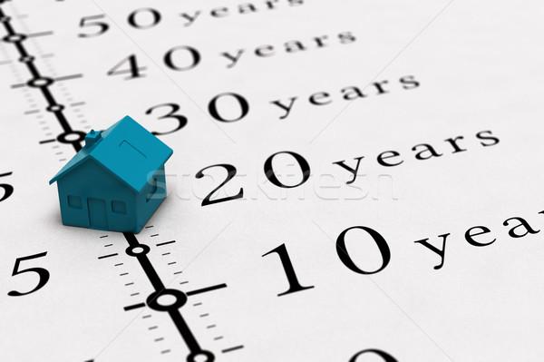Inmobiliario préstamo ilustración hipoteca tiempo casa Foto stock © olivier_le_moal