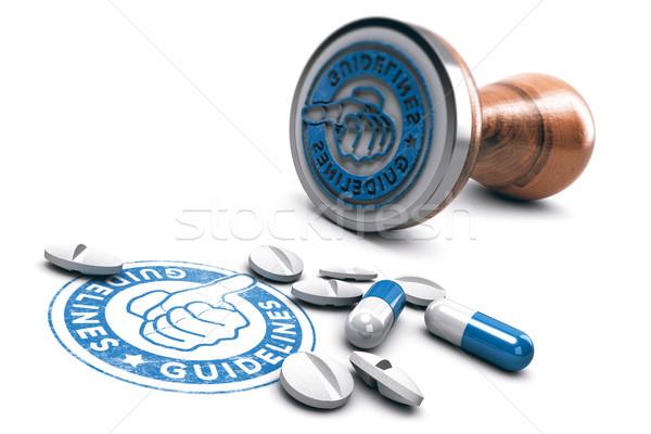 Médico ilustração 3d texto pílulas branco Foto stock © olivier_le_moal