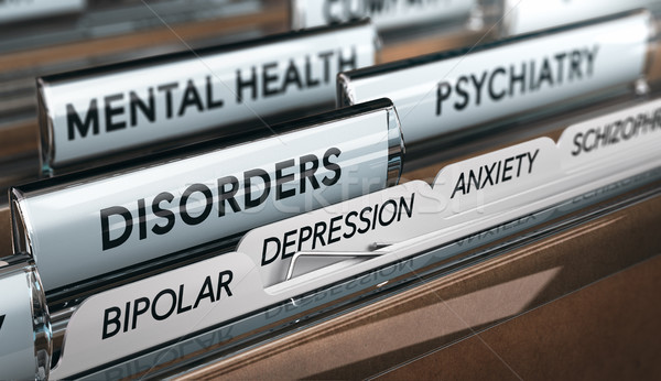 Mental Illness List, Psychiatric Disorders Stock photo © olivier_le_moal