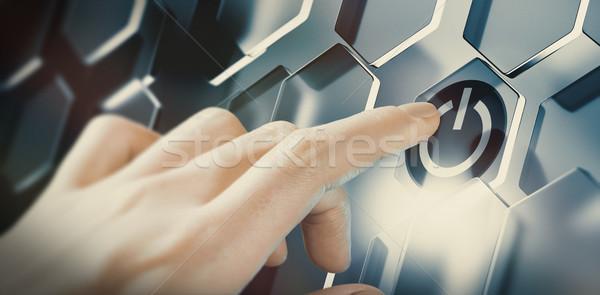 Innovativo tecnologia innovazione dito spingendo Foto d'archivio © olivier_le_moal
