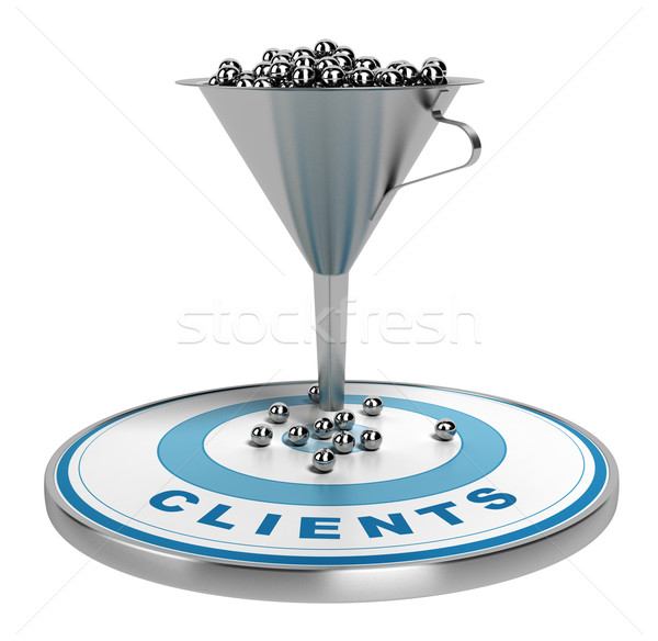 Marketing Sales or Conversion Funnel Stock photo © olivier_le_moal