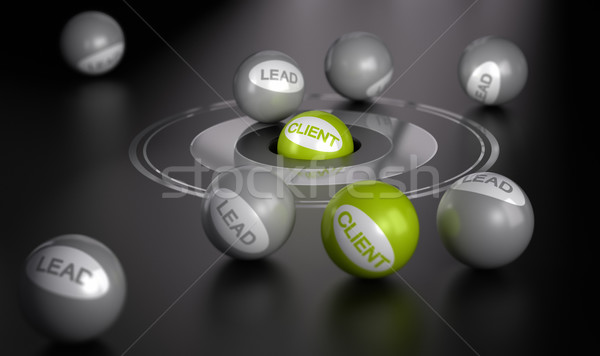 Marketing Concept, Convert Leads To Clients Stock photo © olivier_le_moal