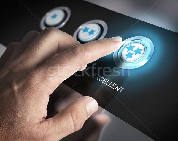 Excelente atendimento ao cliente um dedo três Foto stock © olivier_le_moal