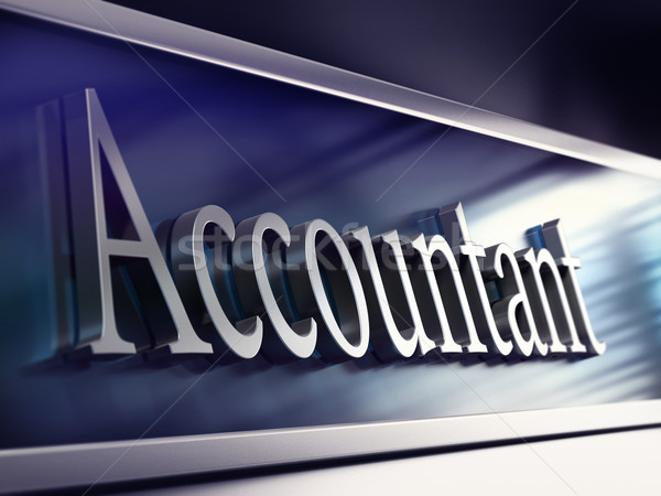 accountant company plaque, 3d rendering Stock photo © olivier_le_moal