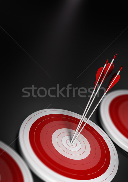 Stock photo: Business concept, target market stategy