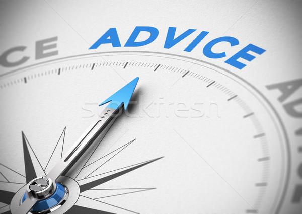 бизнеса совет компас иглы указывая слово Сток-фото © olivier_le_moal