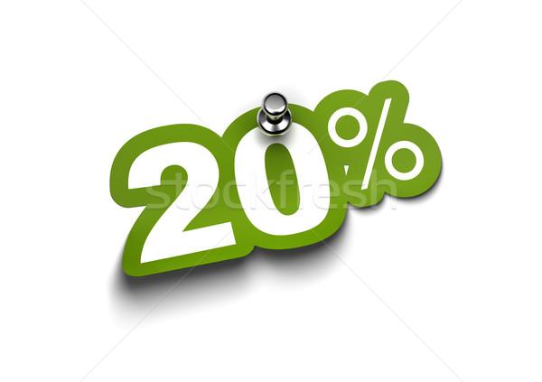twenty percent sticker Stock photo © olivier_le_moal